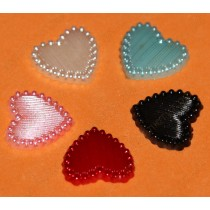 Сердечки жемчужные, цвета микс, 15 мм, 100 шт.