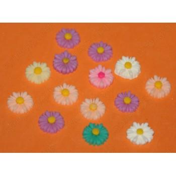 Маргаритки цветные, 12 мм, 25 шт.