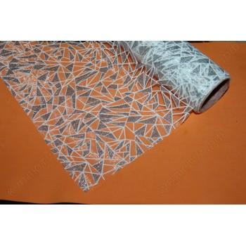 Органза упаковочная, бриллиант, серебро, 50х50см, 1шт