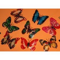 Бабочки магниты, светятся в темноте, 1шт