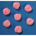 Розовые розочки, 12мм, 50 штук.