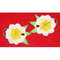 Желто-белые цветочки на резинках