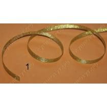 Тесьма металлизированная 10мм, серебро-золото