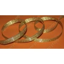 Тесьма металлизированная 15мм, золото