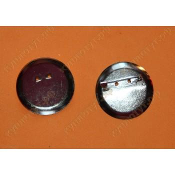 Заготовки для броши 3,6см цвет серебро