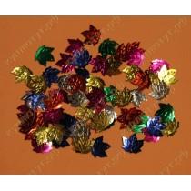 Пайетки фигурные листочки цвет микс 50шт.
