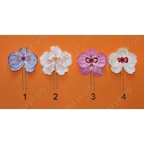 Шпильки орхидеи 6х7см, 5 цветов в ассортименте