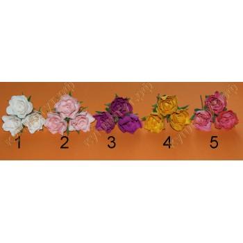 Шпильки розочки 5 цветов в ассортименте