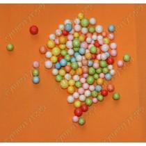 Пенопластовые шарики для рукоделия 7-9мм, цвет микс, 50шт.