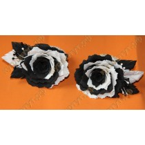 Черно-белые резинки розочки