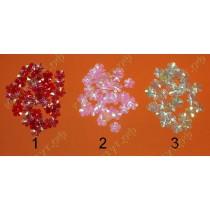 Пайетки цветочки 100шт. 3цвета