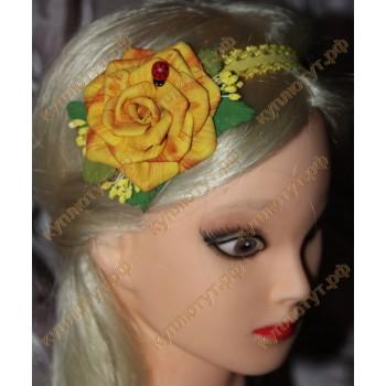"Повязка ""Желтая роза"""