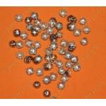 Крышки на бусины, цвет серебро, 10х4мм, 100 шт.