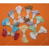 Матовые цветочные тычинки, выбор цвета, 15шт.