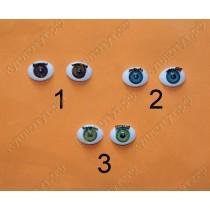 Глазки с ресничками 3цвета, 23мм