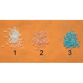 Бусины рис!, 3*6мм, выбор цвета, 100шт.