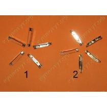 Прямоугольные заготовки для броши,цвет серебро - золото 3см