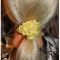 Нежно-желтые цветочки на резинках 1шт.