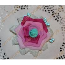 Разноцветная роза на резинке, 1шт.