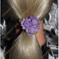 Фиолетовые цветочки на резинках 1шт.