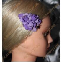Фиолетовые цветочки на зажиме 6см 1шт.