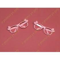 Очки розовые 7см 1шт.