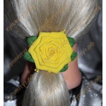"""Желтая роза"" на резинках 1шт."