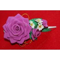 Роза на зажиме 12см