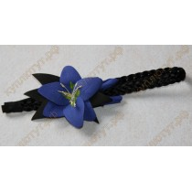 Повязка полуночно-синяя лилия с черными листьями