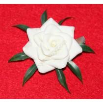 Роза на зажиме 6см