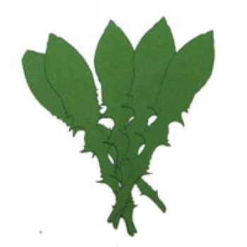 Листья одуванчика, 130мм, 5 штук - А4