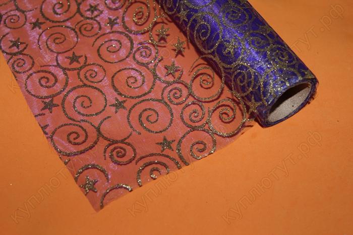 Упаковочный материал блестящий фиолетовый, 50х50см, 1шт