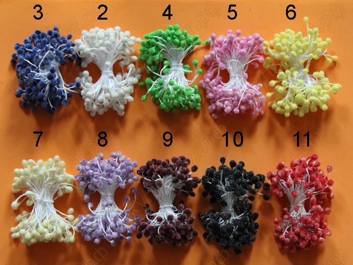 Тычинки блестящие, 11 цветов, 15 шт.
