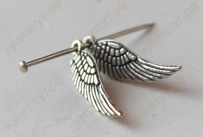 тибетские крылья на булавке бисер