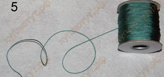 Шнур для плетения выбор цвета, 0,8мм х 10м
