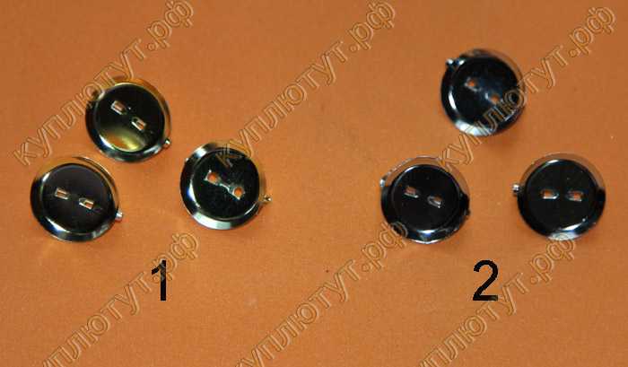 Заготовки для броши 2см цвет серебро - золото