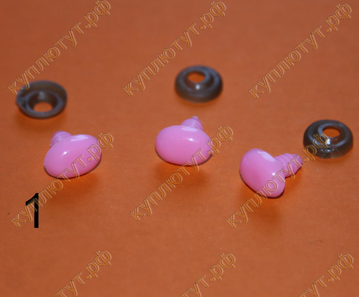 Нос для игрушек с фиксатором, выбор цвета, 15мм, 5шт