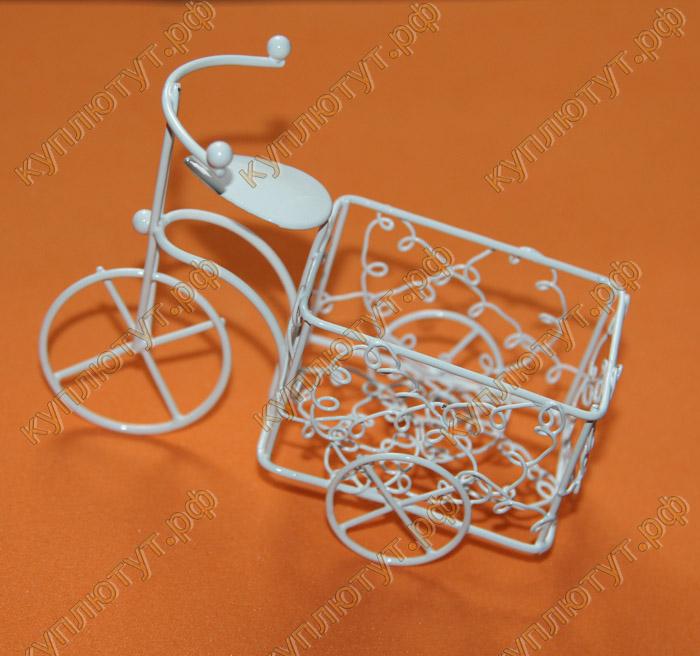Металлический мини-велосипед с корзинкой 1шт.